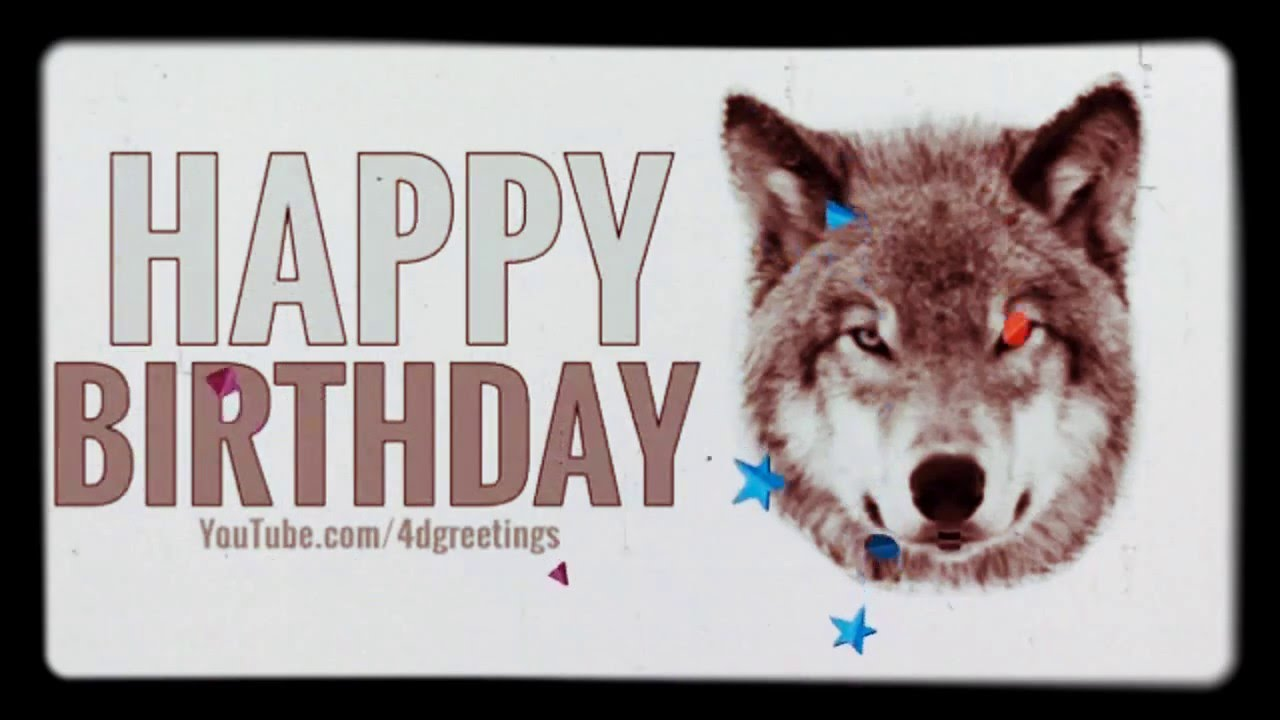 Happy Birthday Wolf Virtual Card Youtube