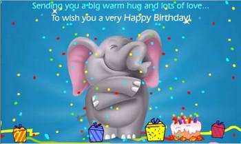 Happy Birthday Images With Elephant