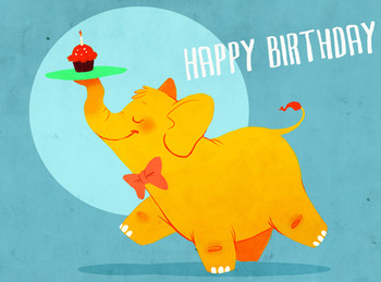 Birthday elephant by rollingrabbit on deviantart