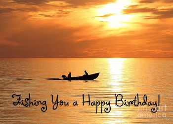 Boat fishing birthday digital art by jh designs