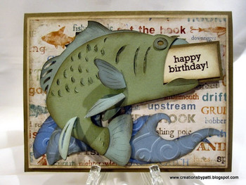 Creations By Patti Bass Fishing Bday Card Happy Birthday Images