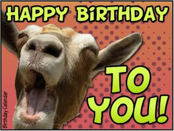 Birthday wishes with goat wishmeme