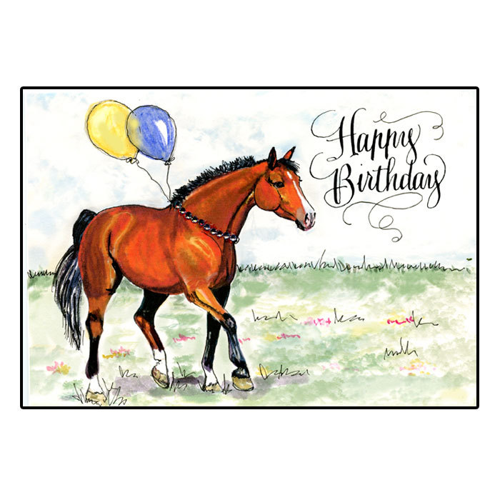 Birthday Card Happy Horse Bay