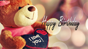 Happy birthday teddy bear gift graphic images photos pict...