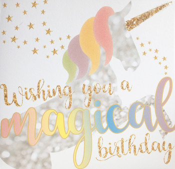 Wishing you a magical birthday unicorn greetings card gre...