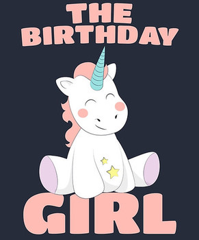 The birthday girl happy birthday magical unicorn posters by