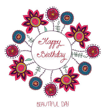 Beautiful day and happy birthday stock vector illustratio...