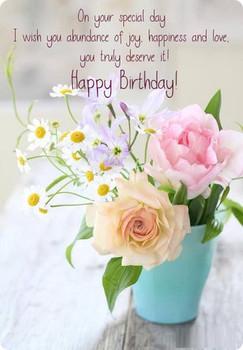 Jnc Happy Birthday Greetings Card Daisy Wild Flower Bouquet