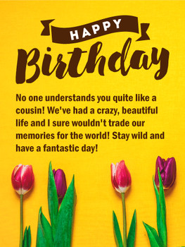 Birthday flower cards for cousin birthday amp greeting ca...