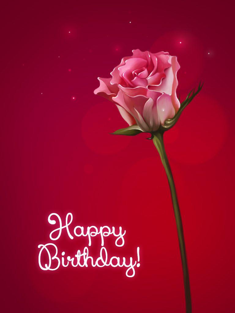 Happy Birthday Rose Pinteres