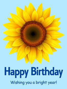 Sunflower happy birthday card birthday amp greeting cards...