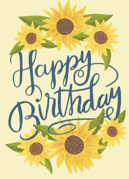 Card happy birthday sunflowers – gifted boutique and wrap...