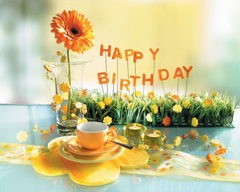 Cup of tea with sunflower happy birthday graphic share on...
