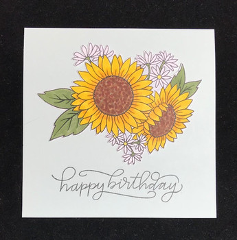 Granny cats crafts happy birthday sunflowers card