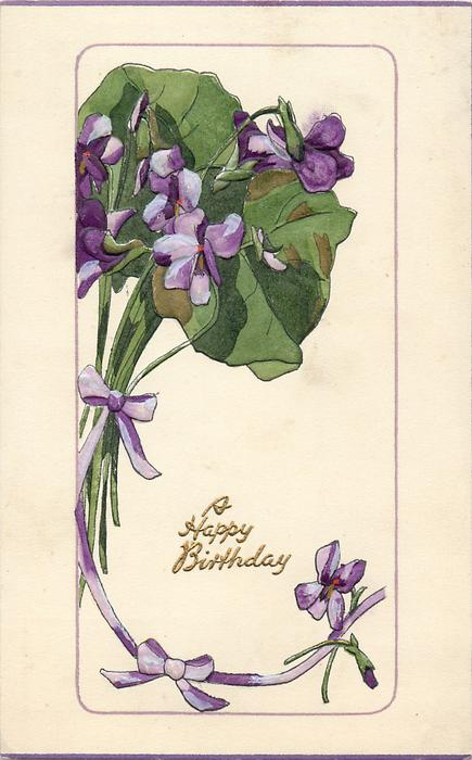 A happy birthday violets left amp above tuckdb postcards