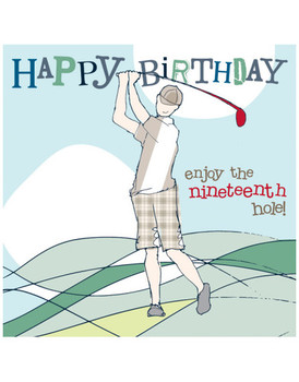 Happy Birthday Card Vintage Cards Golf
