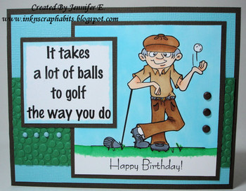 Enjoy Your Birthday Golf Cards