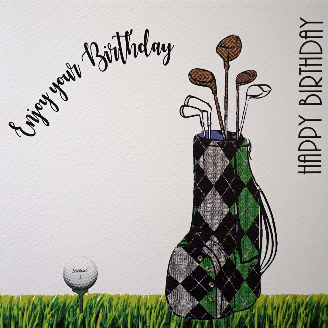 Enjoy Your Birthday Golf Cards