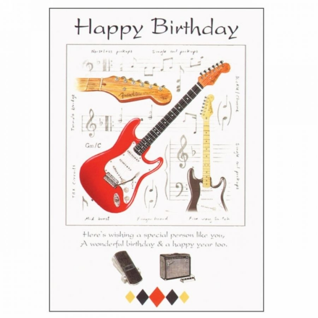 Happy Birthday Card Guitar Images