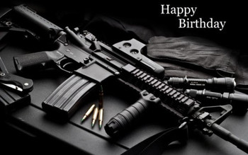 Birthday wishes with gun wishmeme