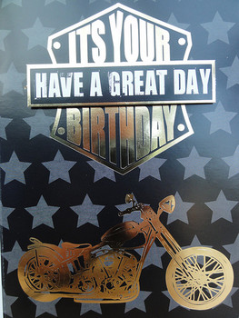 Happy birthday old giffer bazza the harley davidson