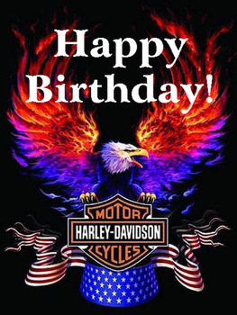 Happy birthday harley davidson eagle harley davidson