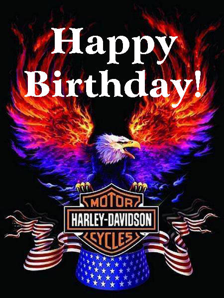 Happy Birthday Harley Davidson Eagle Harley Davidson Happy