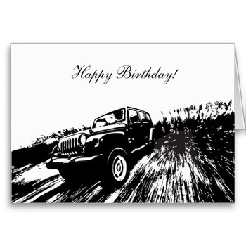 Wrangler rolling shot happy birthday greeting cards jeep ...