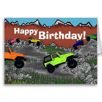 Happy birthday jeep wrangler greeting card jeep onlyinajeep