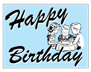 Buy our happy birthday pale blue corrugated plastic sign ...
