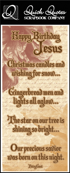 Jesus Christmas Quote.Quick Quotes Christmas Collection Color Vellum Quote Strip