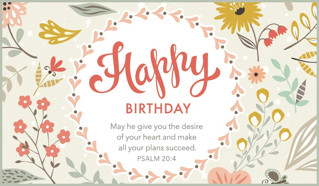 Free Happy Birthday Psalm Ecard Email Personalized
