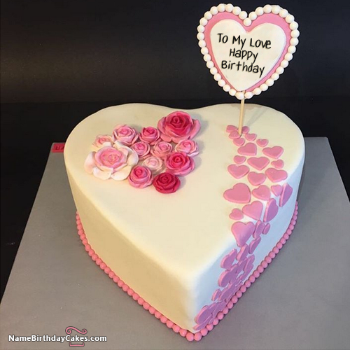 Romantic Birthday Cake For Lover Express Your Love Happy Birthday