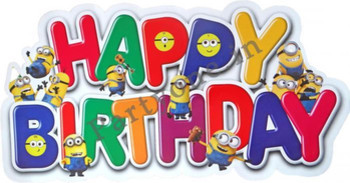 Minions paper happy birthday banner ppc banners