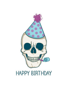Birthday quotes happy birthday skull card free printable ...