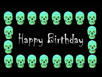 Happy birthday wishes psychedelic skull free musical