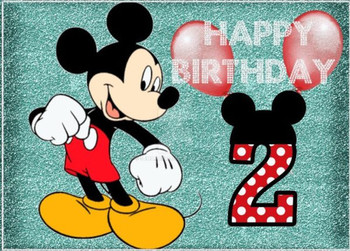 Happy 2nd Birthday With Mickey Mouse