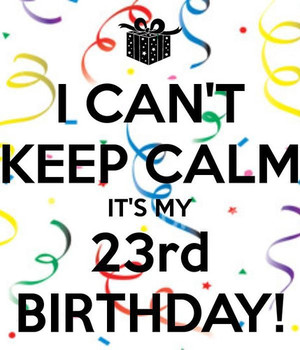 I Cant Keep Calm Its 23rd Birthday