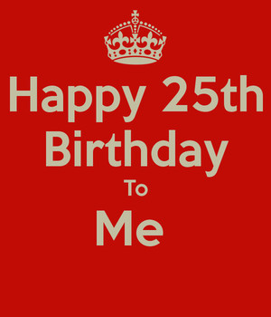 25th Birthday Image