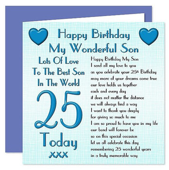 Happy Birthday My Wonderful Son 1