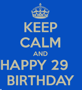 Keep Calm And Happy 29th Birthday