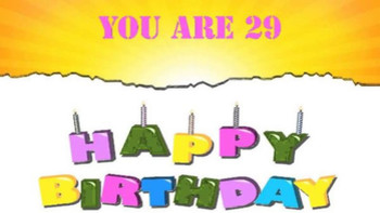 You Are 29th Happy Birthday