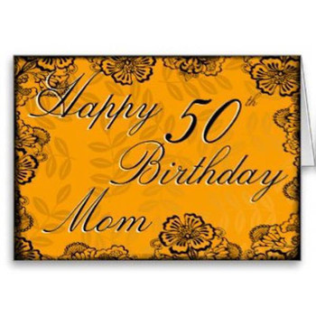 Happy 50th Birthday Mom