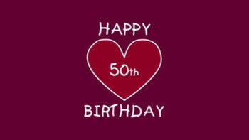 50th Birthday With Heart