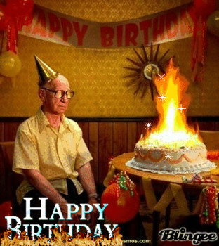 Funny happy birthday gif for old man