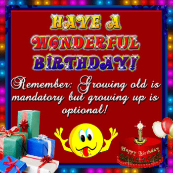Have a wonderful birthday smiley free funny birthday wishes