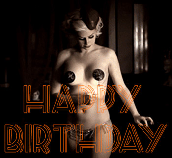 Free Happy birthday gif  with woman