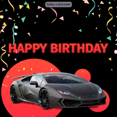 Bday pictures for men with Lamborghini