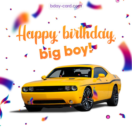 Happiest birthday with Dodge Charger