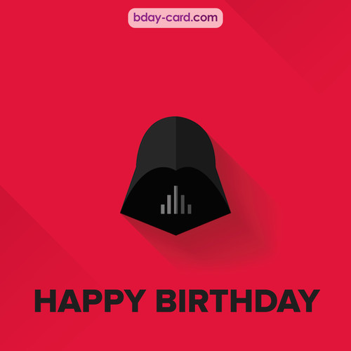 Happy Birthday pictures with Darth Vader
